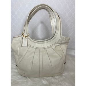 Coach Pleated Leather Hobo Shoulder Bag